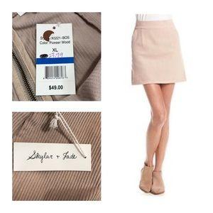 NWT Skylar & Jade Corduroy Tan Skirt